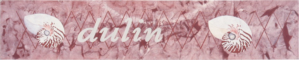 Fiona Foley Dulin, 1998; oil and oxide on canvas; 96.5 x 484.5 cm; enquire
