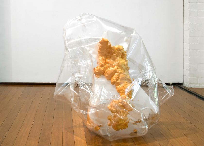 Mikala Dwyer Gap filler pet (hard edge), 2005; plastic, pins and expanding polystyrene; 2 pieces; 86 x 94 x 87cm, 2 x 7 x 13cm; enquire