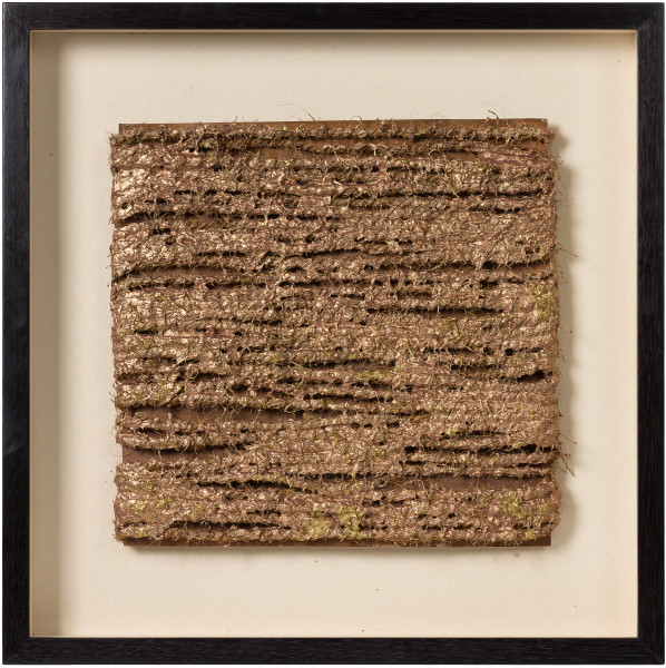 Kirtika Kain Namdeo, 2019; copper, rope, copper paint; 55 x 55 cm; enquire