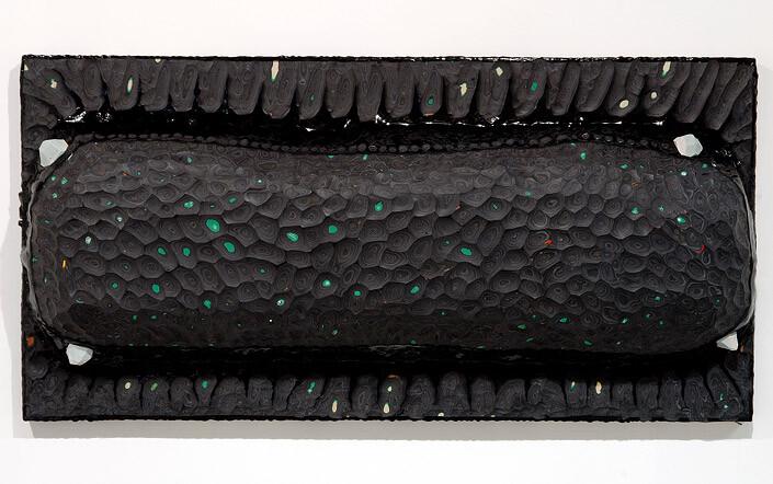 Rohan Wealleans Pod, 2007; paint on polystrene fibre glass on wood; 61 x 121 x 15 cm; enquire