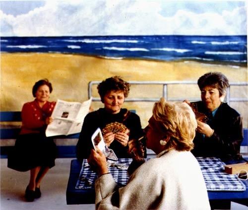 Anne Zahalka The Cardplayers, 1989; type C colour photographs; 74 x 90 cm; Edition of 20; enquire