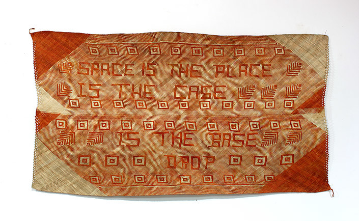 Newell Harry untitled (Space is the Place / Is the Case / Is the Base / Drop), 2011; from the series gift mat; Pandanus, dye; 109 x 195 cm; enquire