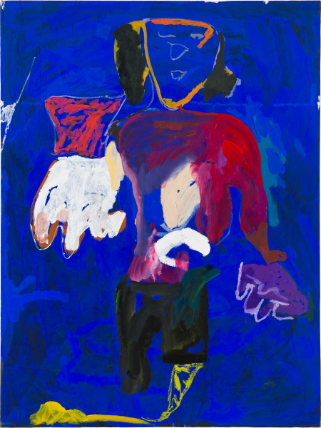 Tom Polo helpful hands (lost in a lake), 2019; acrylic, Flashe and oil on canvas; 182 x 138 cm; Enquire