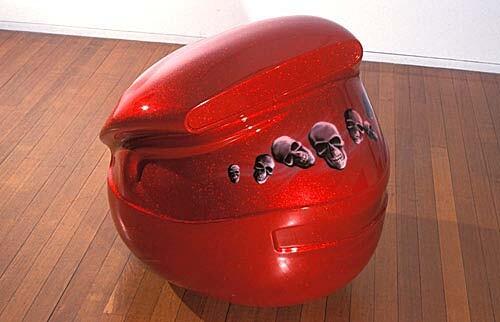 Patricia Piccinini Pocito Locito, 2002; fiberglass and automotive paint; 95 x 70 x 70 cm; enquire
