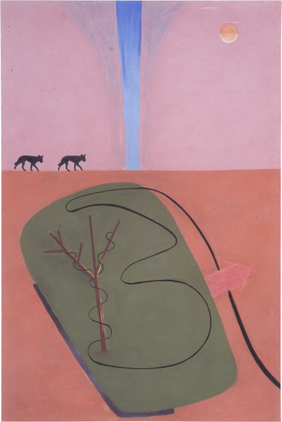Fiona Foley Maradjirri - one, 1989; acrylic, pastel, pencil, ink and collage on paper; 152 x 102 cm; enquire