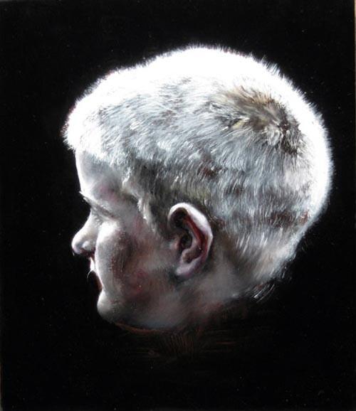 Louise Hearman Untitled #1135, 2005; oil on masonite; 30 x 31 cm; enquire