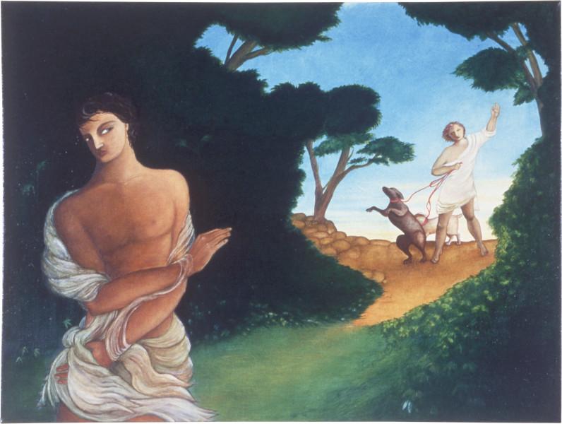 Vivienne Shark LeWitt Noli Me Tangere, 1987; oil on linen; 91 x 122.2 cm; enquire