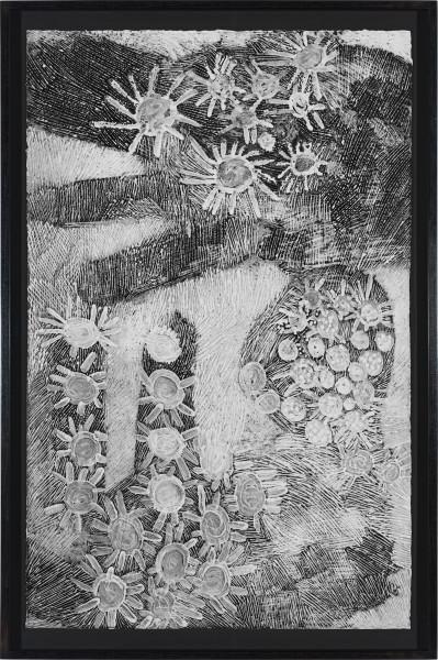 Nyapanyapa Yunupingu Djulpan, 2021; 12-21; natural earth pigments on paper; 109 x 72.5 cm; enquire