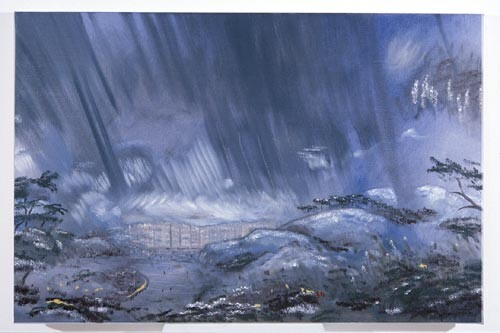 Linda Marrinon Storm over Hong Kong Harbour, 1996; Oil on canvas; 92 x 61 cm; enquire