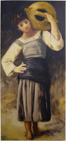 Linda Marrinon The Watergirl, after Adolphe-William Bouguereau, 2002; oil on canvas; 77 x 35 cm; enquire