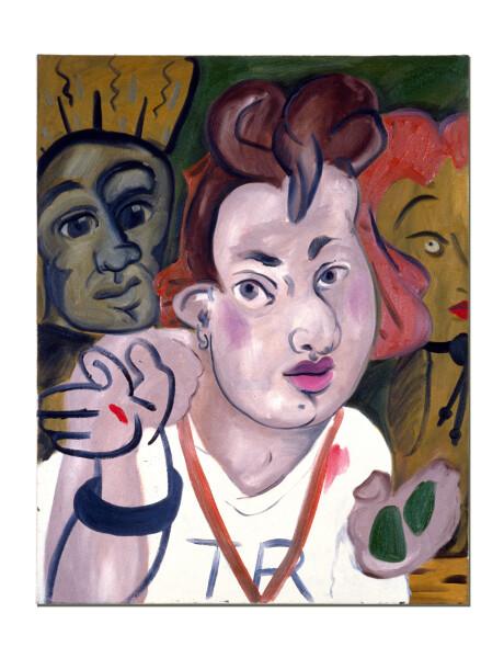 Linda Marrinon I Love The Police, 1990; oil on canvas; 76 x 61 cm; enquire