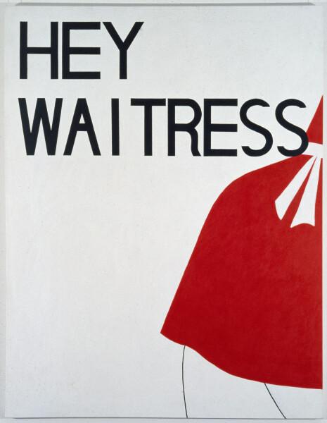 Linda Marrinon Hey Waitress, 1987; acrylic on canvas; 213 x 152 cm; enquire