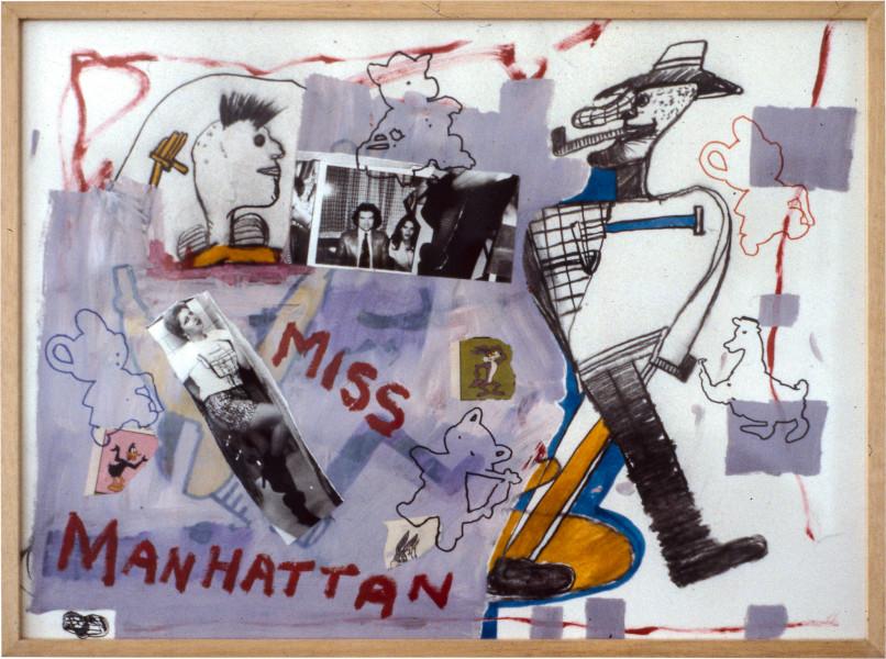 Gareth Sansom Miss Manhattan, 1981; mixed media on paper; 56.5 x 77 cm; enquire