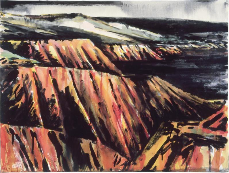 Mandy Martin Drawing for Coastal Landscape 4, 1985; pigment, enamel paint on arches paper; 56.5 x 75.6 cm; enquire