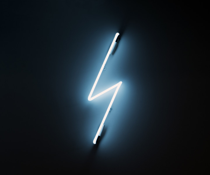 Nell Lightning Bolt, 2013; neon; Edition of 5 + AP 2; enquire