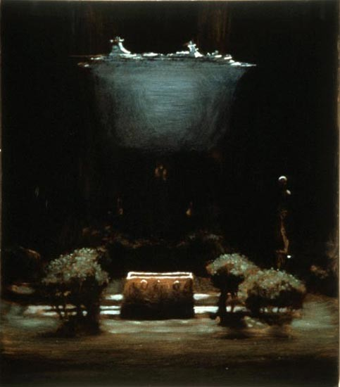Louise Hearman Untitled #317, 1993; oil on masonite; 39 x 45 cm; enquire