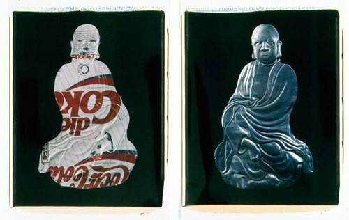 Fiona Hall The Real Thing (a) [front Buddha], 1994; polaroid photographs; 68 x 53 cm; each (image size), diptych; Edition of 9; enquire