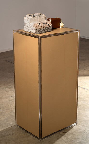 Hany Armanious The pomegranate, 2013; cast pigmented polyurethane resin; 117 x 50 x 40 cm; Edition of 2 + AP 1; enquire