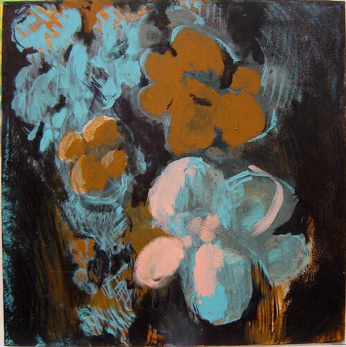 Tony Clark Floral Design with Flowers, 2003; acrylic on canvas; 51 x 51 cm; enquire