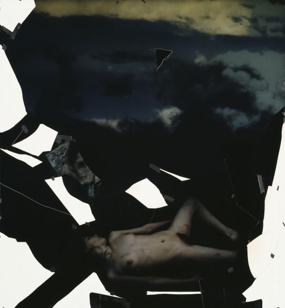 Bill Henson Untitled, 1994; type C photograph, adhesive tape, pins, glassine; 200 x 185 cm; enquire