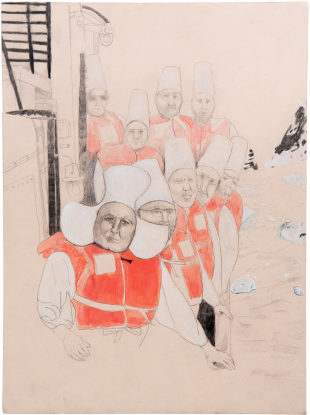 Hossein Ghaemi Almost immediately, 2009; gouache and pencil on paper; 38 x 28 cm; enquire