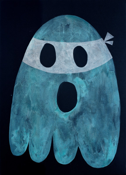 Nell The Ghost Who Walks will Never Die, 2005; acrylic on canvas; 40.5 x 30.3 cm; enquire