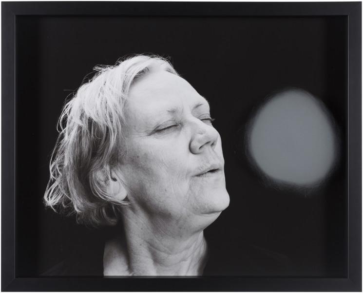 Julie Rrap Blow Back #20, 2018; digital print and handground glass; 52 x 64 cm; Edition of 3 + AP 1; enquire