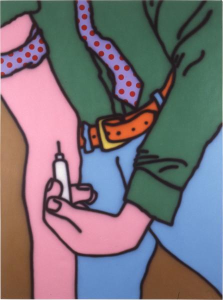 Howard Arkley The Ritual, 1987; acrylic paint on canvas; 160 x 122 cm; enquire