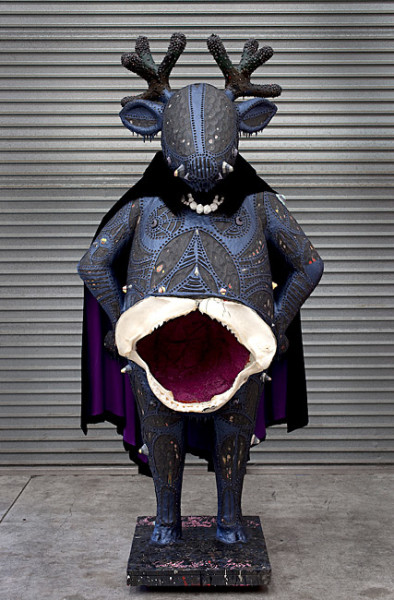 Rohan Wealleans Janicot Vader, 2009; polystyrene, paint, shark jaw and velvet; 237 x 104 x 70 cm; enquire