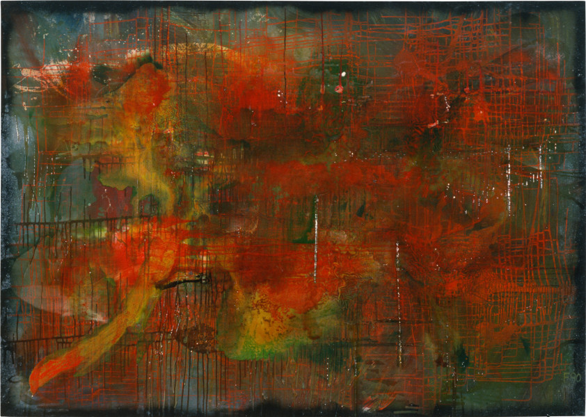 Dale Frank Willdo, 1990; acrylic & varniash on linen; 200 x 280 cm; enquire