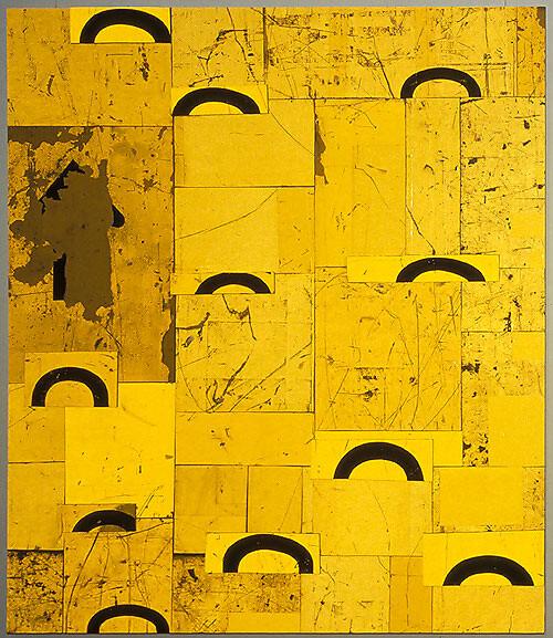 Rosalie Gascoigne Parasol, 1999; retro reflective roadsign on wood; 123 x 106.5 cm; enquire