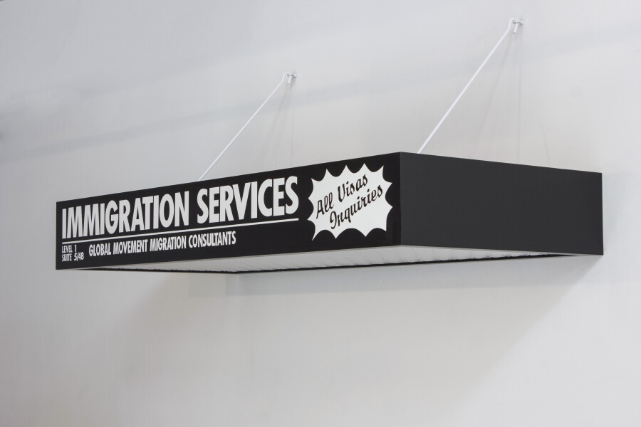 Callum Morton Immigration Services, 2012; timber, synthetic polymer paint, steel ; 20 x 180 x 80 cm; enquire
