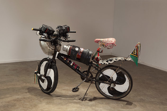 Newell Harry Reverse Missionary (Easy Rider), 2010; Exchanged Ngunese village bicycle, for artists Cannondale V900 mountain bike.