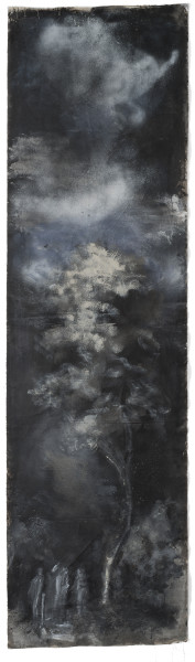 Tony Clark Fragmentary Section from Clark's Myriorama with Jesus on the Road to Emmaus, 2014; acrylic on canvas; 317 x 87 cm; enquire