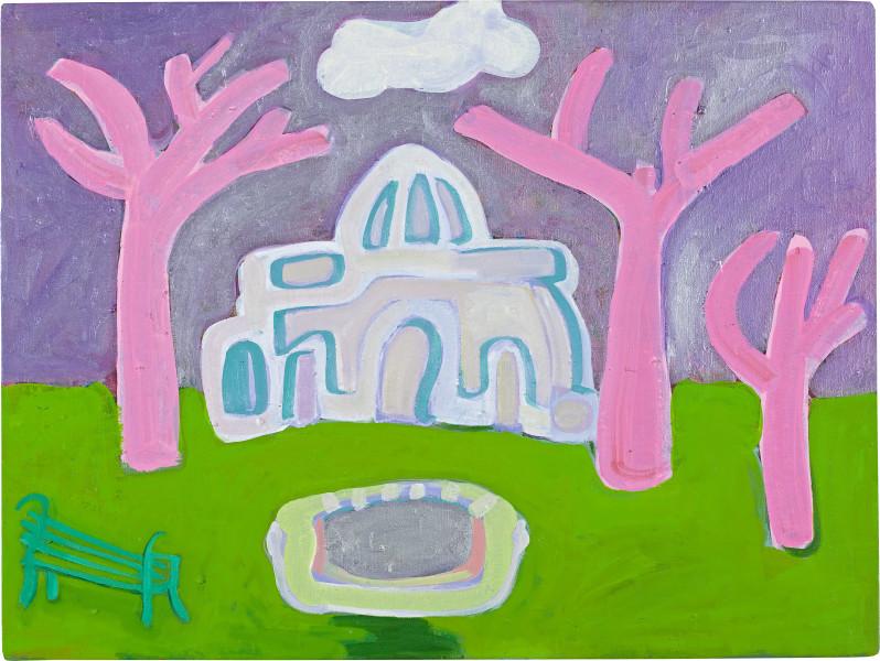 Angela Brennan Park, Fitzroy, 2009; oil on linen; 61 x 80 cm; enquire