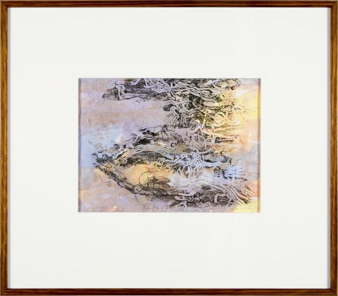 John Wolseley Beetle Umwelt II, 2015; Unique relief print and watercolour on paper; 53 x 60.5 x 4 cm; enquire