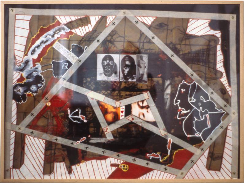 Gareth Sansom Fat nazi rubber, 1979; mixed media on cardboard; 76 x 102 cm; enquire