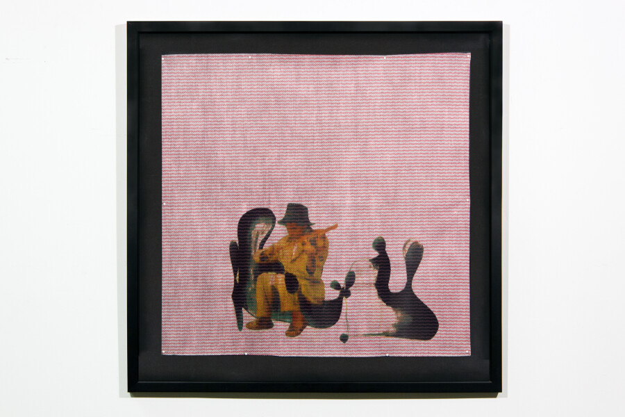 Hany Armanious Allegory, 2001; inkjet print on chux cloth; 60.5 x 62 cm; 75.5 x 76 cm (frame size); enquire