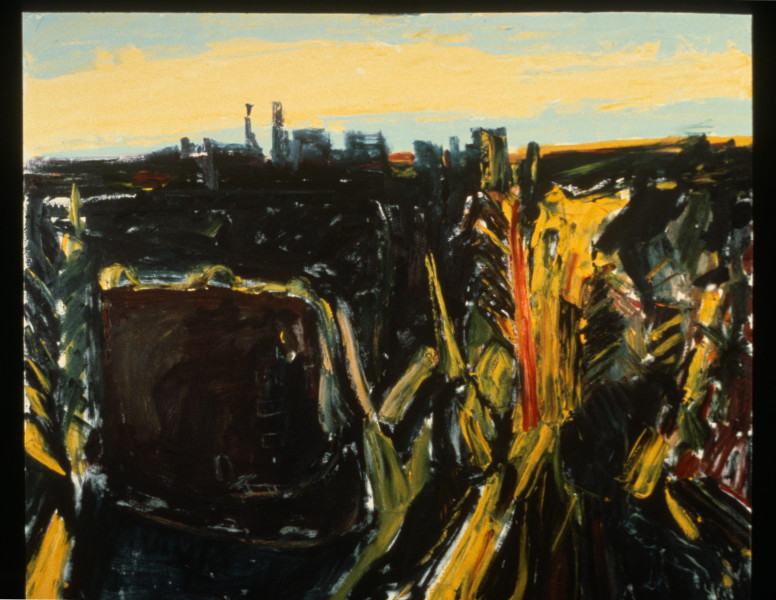 Kevin Connor The Building in Flinders Street, 1987; oil on canvas; 152 x 182 cm; enquire
