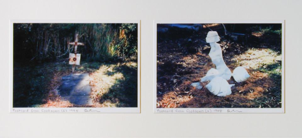 Destiny Deacon Postcard from Cooktown 1 & 2, 1998; 2 laser prints; 21 x 29.7 cm; Edition of 15; enquire
