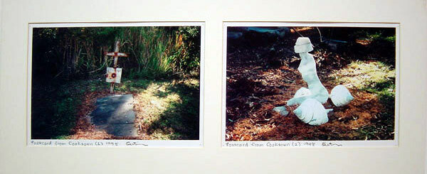 Destiny Deacon Postcard from Cooktown 1 & 2, 1998; 2 laser prints; 21 x 29.7 cm; Edition of 15; enquire