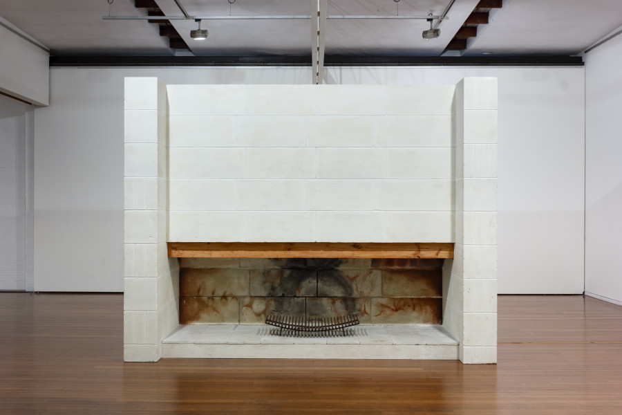 Callum Morton One to One, 2011-12; polystyrene, epoxy resin, steel, sand, wood, synthetic polymer paint, light, CD, audio unit; 256 x 335 x 132 cm; enquire