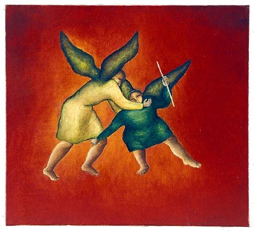Vivienne Shark LeWitt Two Angels, 1987; oil on linen; 50.5 x 55.5 cm; enquire