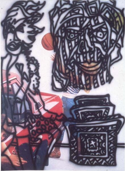 Howard Arkley Schizo, 1983; acrylic on canvas; 160 x 120 cm; enquire