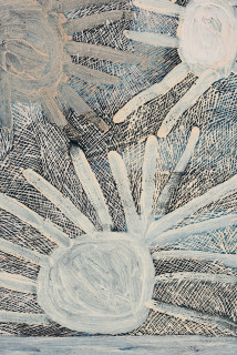 Nyapanyapa Yunupingu Djulpan (detail), 2020; 3252-20; natural earth pigments on paper; 109 x 72.5 cm; enquire