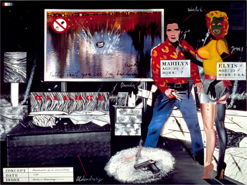 Juan Davila Bedroom Ensemble, 1981; acrylic and collage on photographic mural; 200 x 260 cm; enquire