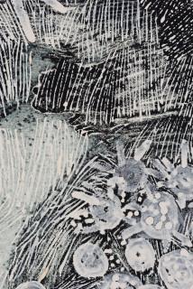 Nyapanyapa Yunupingu Djulpan (detail), 2021; 12-21; natural earth pigments on paper; 109 x 72.5 cm; enquire