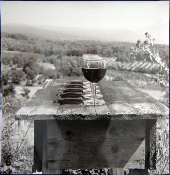 Bill Culbert Wine in Perspective, France, 1996; silver gelatin prints; 40.5 x 40.5 cm; Edition of 25; enquire