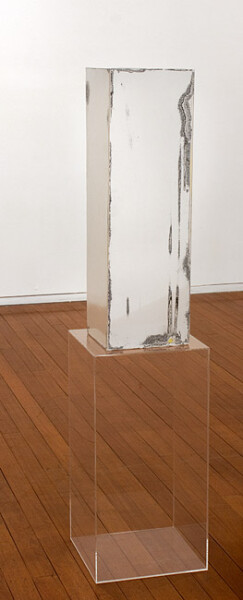 Carla Liesch Hour Glass II, 2012; MDF, acrylic paint, perspex plinths, estrapol; 152 x 35.5 x 35.5 cm; enquire