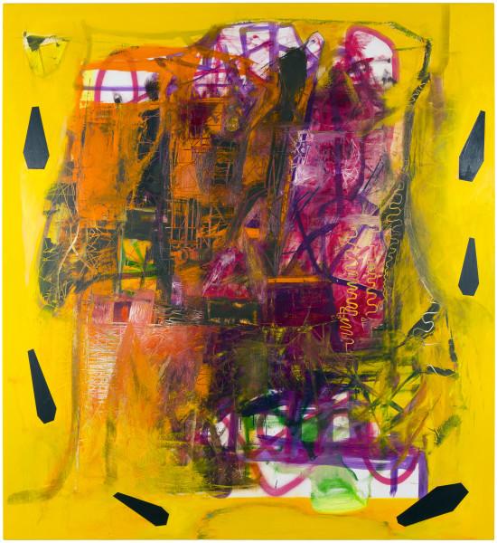 Gareth Sansom The Fountainhead, 2014; oil and enamel on linen; 183 x 168 cm; enquire